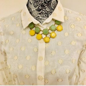 Zara gold dots blouse size 2 (good condition)
